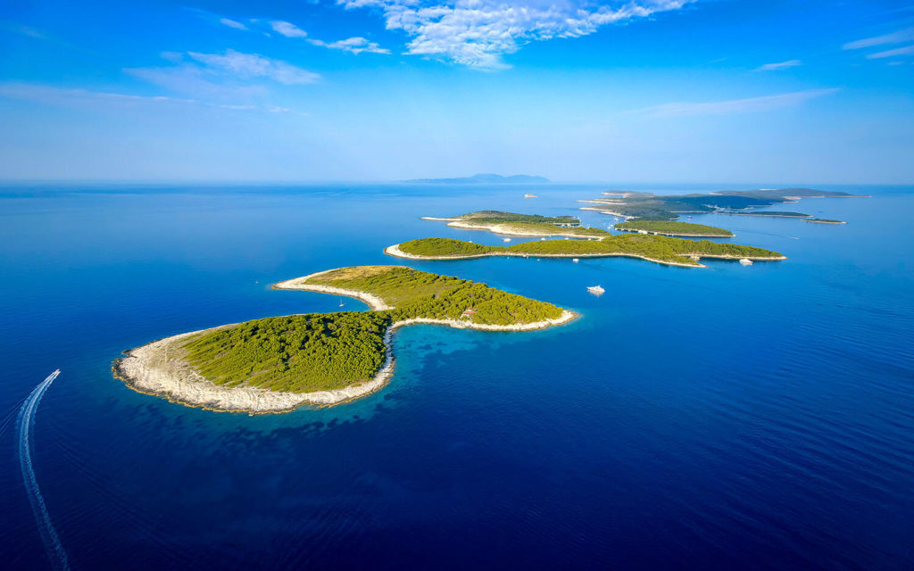Pakleni Islands near island of Hvar