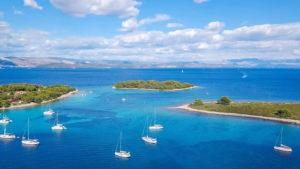Blue Lagoon near island Drvenik Croatia