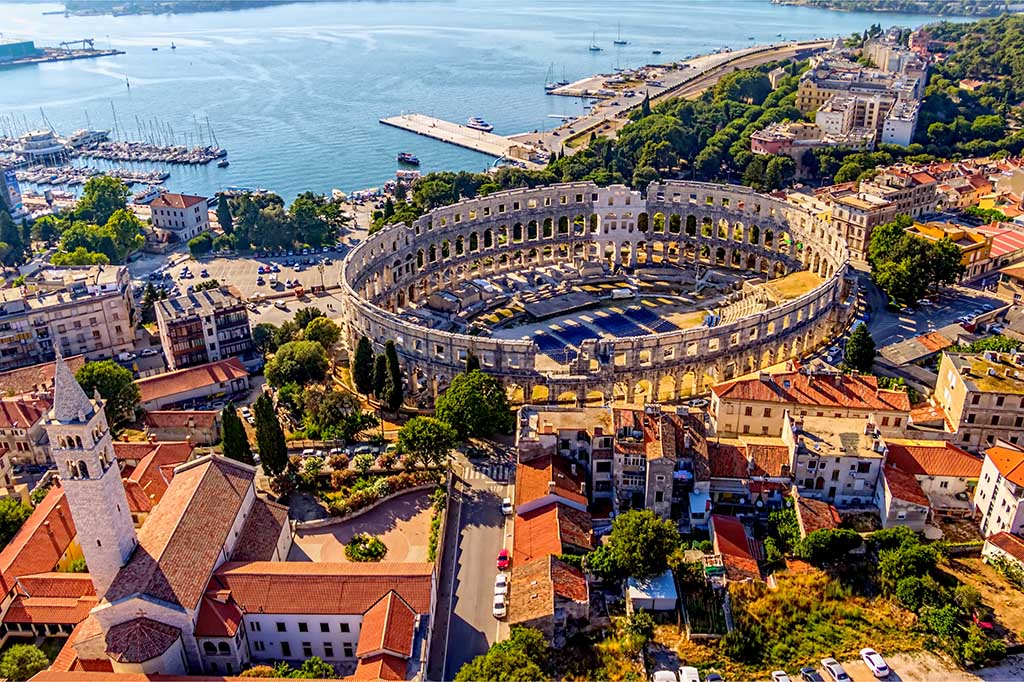 City of Pula in Croatia